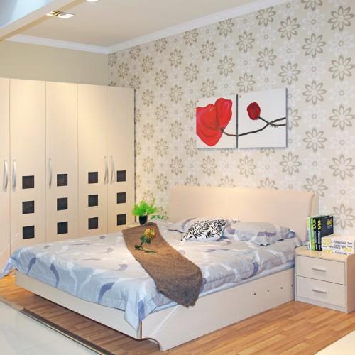 简约主卧婚床套房家具15