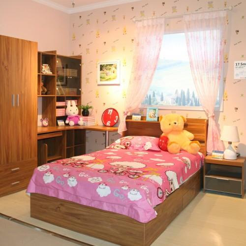 小户型现代主卧双人床套房家具16