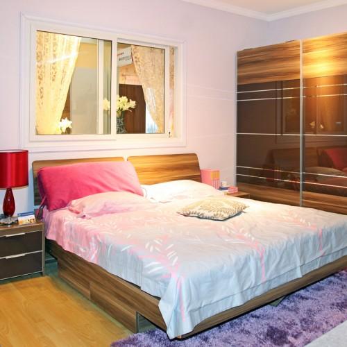 简约经济型卧室双人床家具19