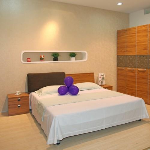 现代中式简约双人床套房家具23