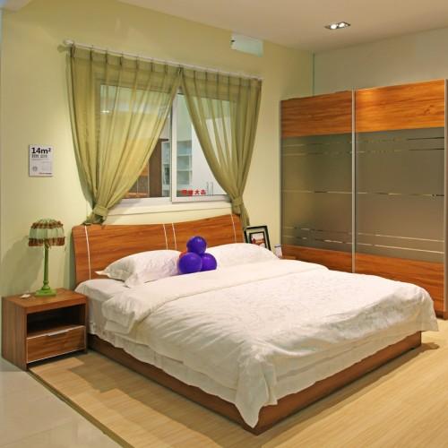 宾馆酒店双人床套房家具24