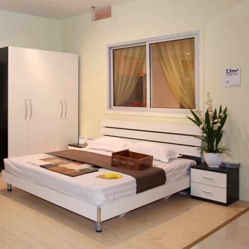 现代婚床双人床套房家具25