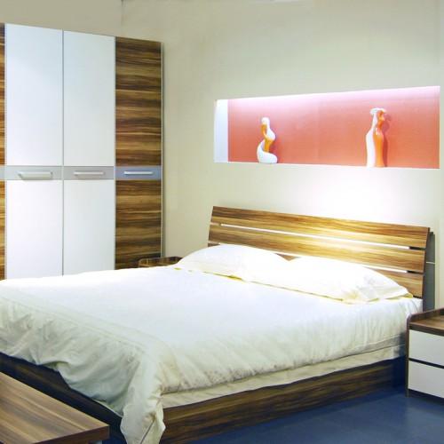 现代简约样板房卧室套