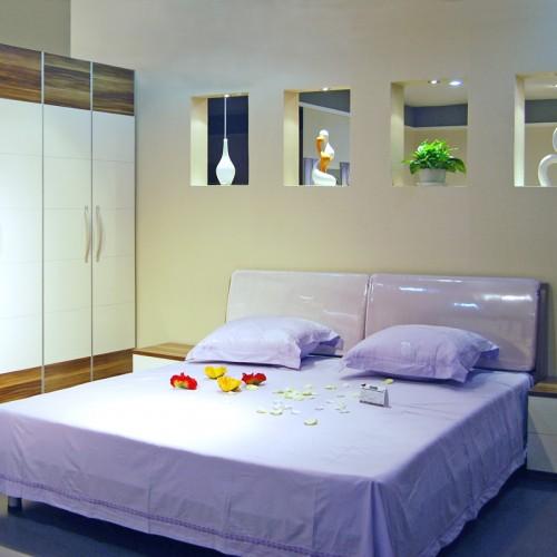 简约卧室双人床套房家