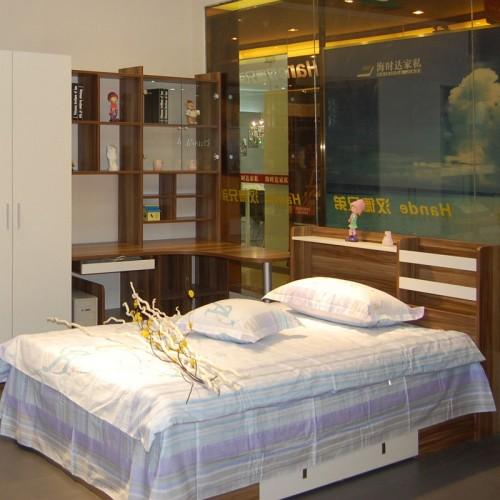 现代简约样板房酒店双人床家具40
