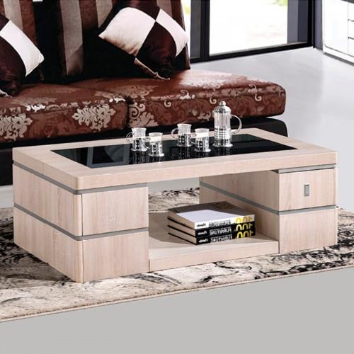 木纹雕套灰布纹客厅欧式茶几HO-10