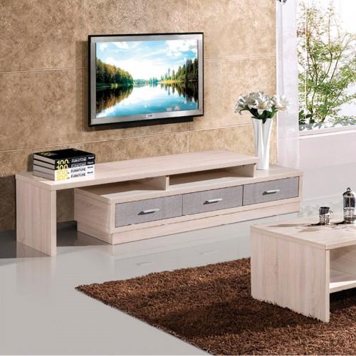 木纹雕套灰布纹客厅茶几电视柜组合HO-21