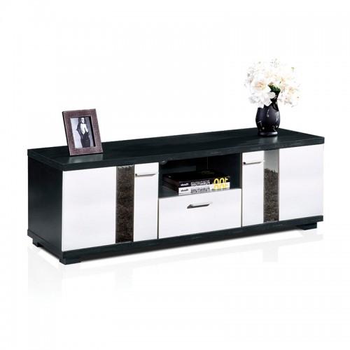 黑橡套白浮雕空格破门电视柜HTV-19