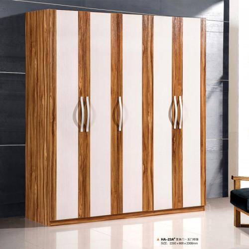 黄金柚套水洗白五门衣柜衣橱HA-23A