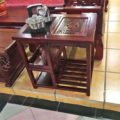 老榆木客厅功夫茶几中式茶艺桌03