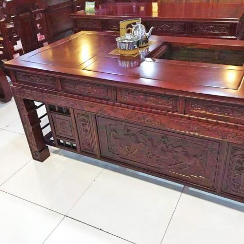 中式榆木茶道桌客厅功夫泡茶桌04