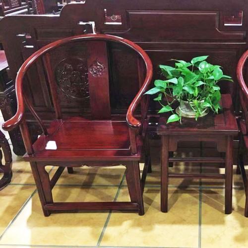 中式榆木家具圈椅太师椅官帽椅03