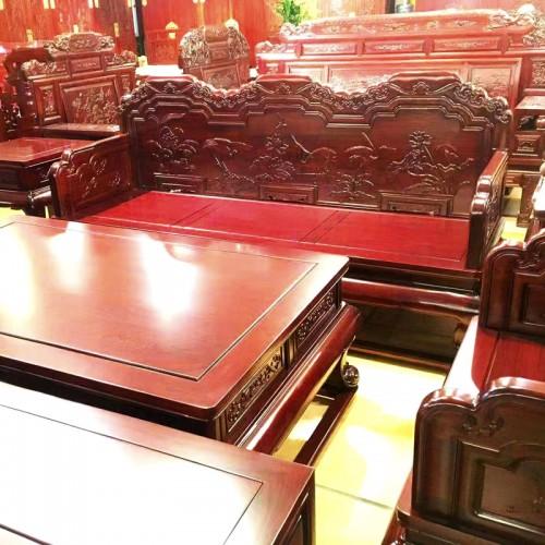 中式客厅整装沙发榆木沙发组合08