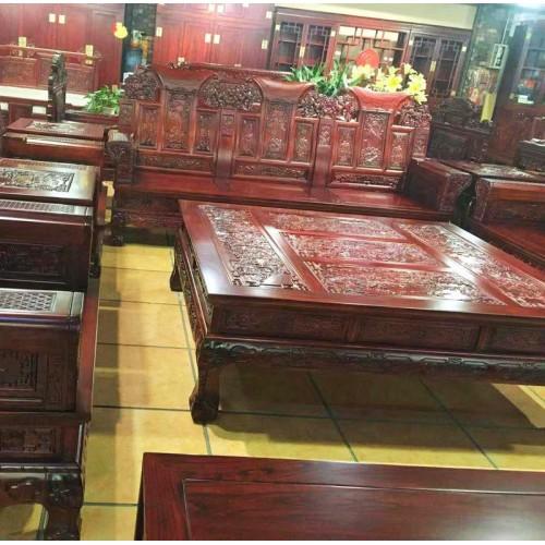 明清古典客厅榆木沙发组合11