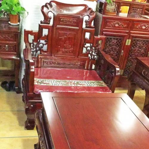 中式仿古客厅榆木沙发组合12