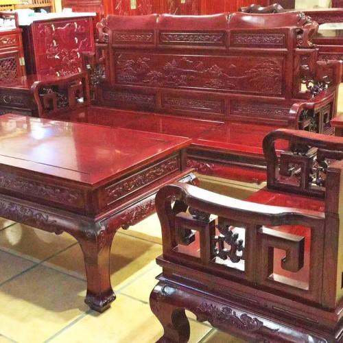 香河红之源老榆木家具沙发组合13