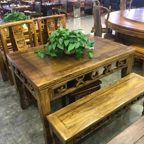 酒店实木长条桌02