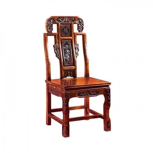 实木象头餐椅酒店古典
