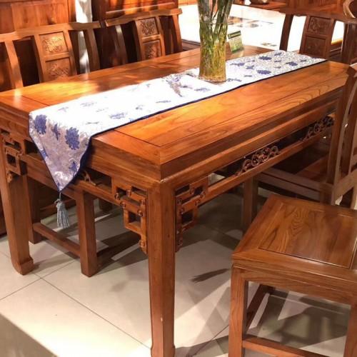 香河中式老榆木餐厅方桌