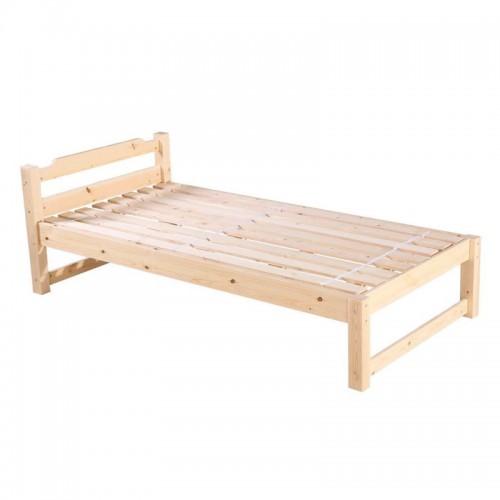 实木床现代简约单人床01