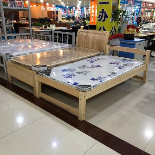 家用实木床现代简约单