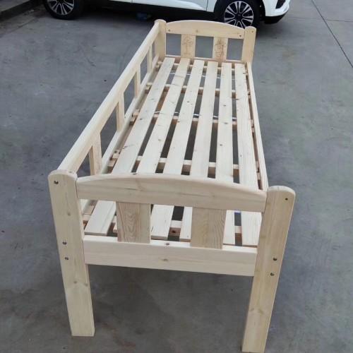 简约现代松木床儿童单