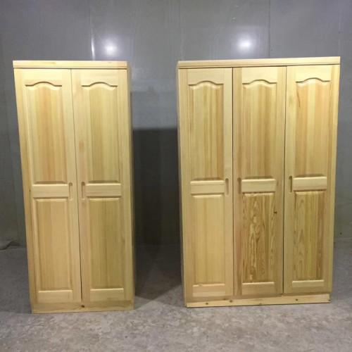 现代简约松木衣橱2门3
