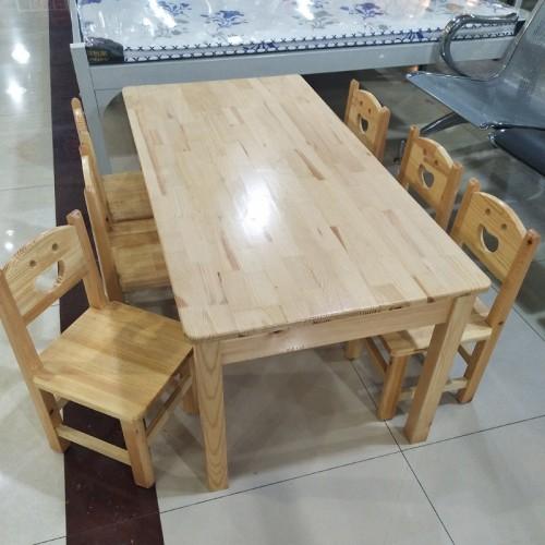 幼儿园课桌椅松木桌子