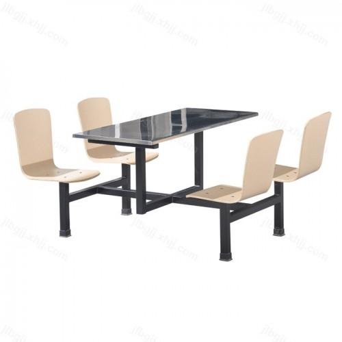 公司学校食堂用连体餐桌椅05