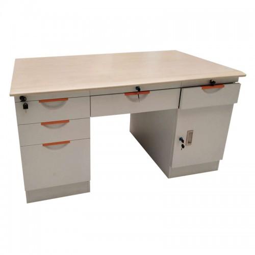 精兰办公桌钢木电脑桌职员桌06