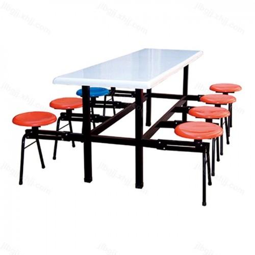 学校学生员工食堂餐桌椅组合16