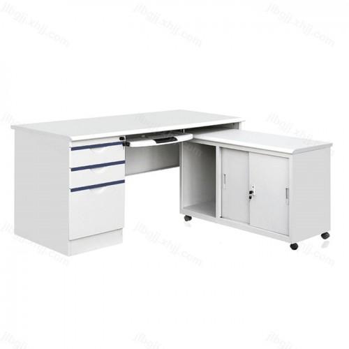 L型办公桌钢制电脑桌写字台 11