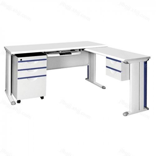 办公家具钢制电脑桌带副台13