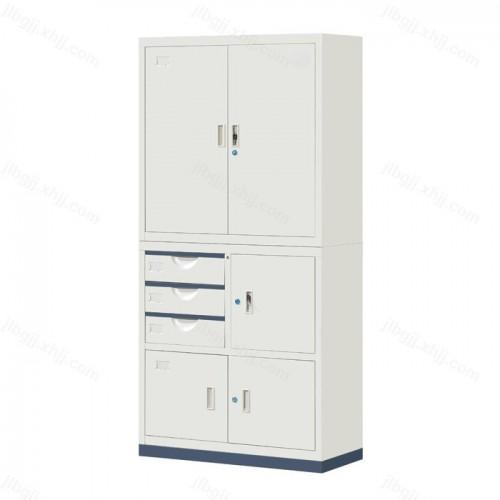 铁门偏三屉文件柜资料柜JL-B-01