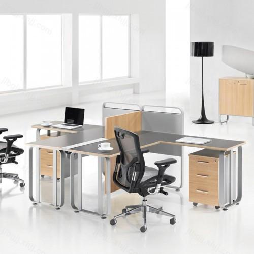 简约时尚职员办公桌屏风卡座电脑桌06