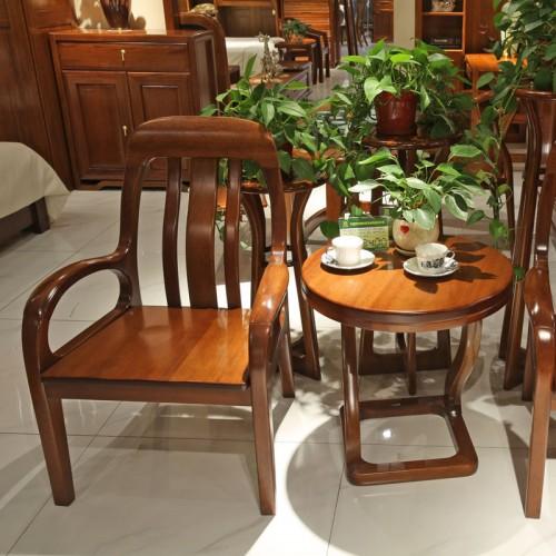 客厅实木家具茶几椅休闲桌椅组合01