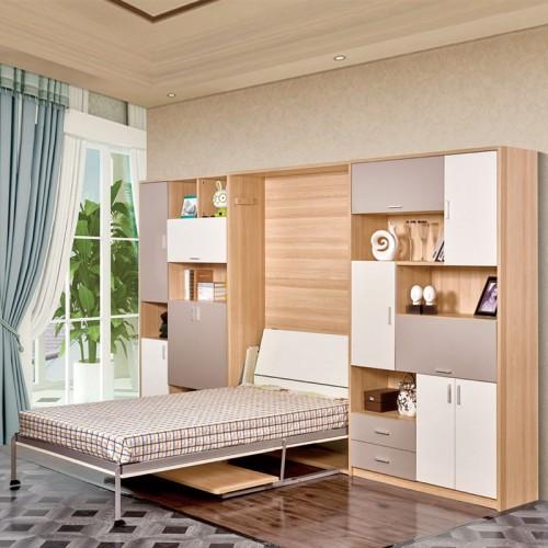 多功能壁床折叠墙床08