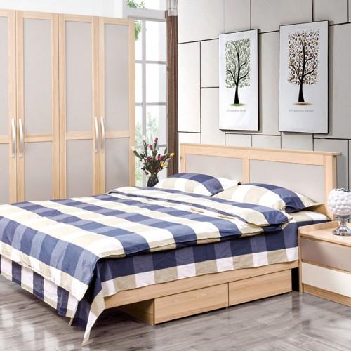 现代简约卧室双人床组合16012006