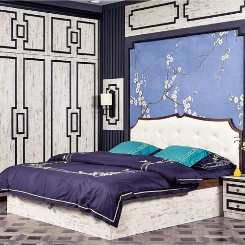 汉德可定制新中式衣柜 床