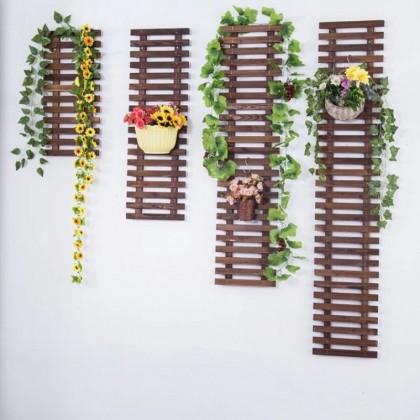阳台墙挂花架碳化木实木装饰品花箱户外防腐木