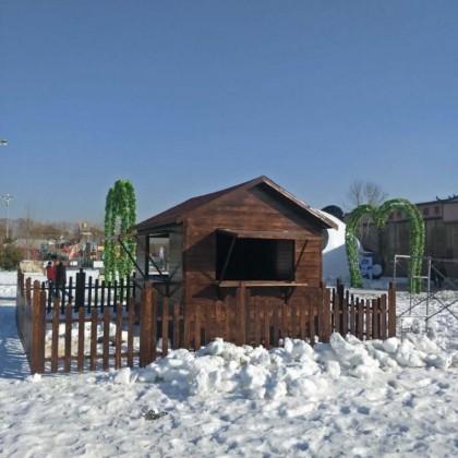 布卢斯户外碳化木木屋凉亭长廊防腐木实木松木