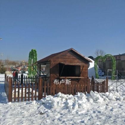 户外碳化木木屋定制凉亭厂家直销实木松木