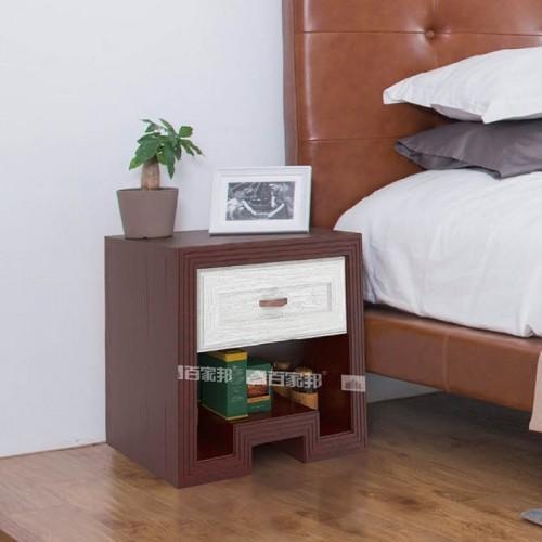 红柚木3D英国白橡全铝床头柜BJB-012