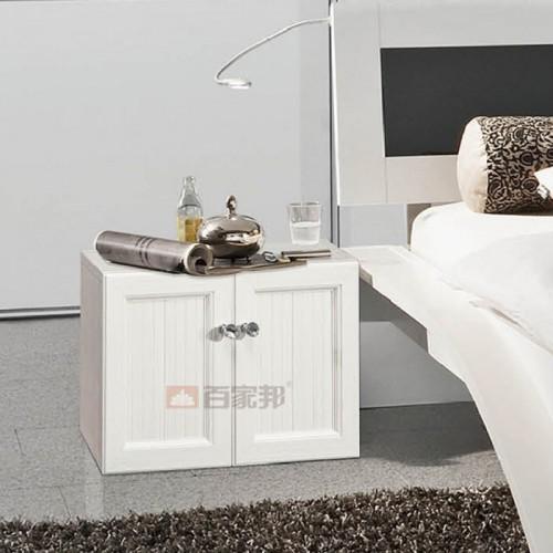 白橡木对开门全铝床头柜BJB-011