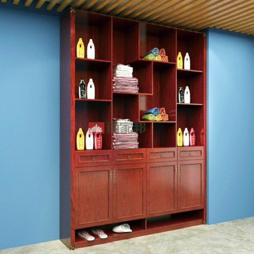 红柚木全铝储物柜方格柜BJB-001