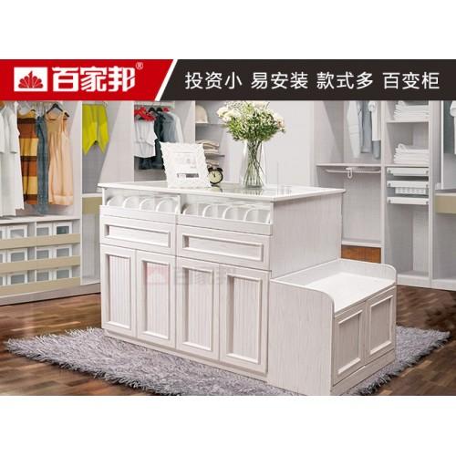 全铝储物柜  白橡木02