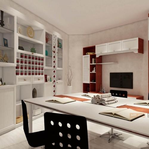 3D英国白橡金橡木结合办公家具MRALV-M11