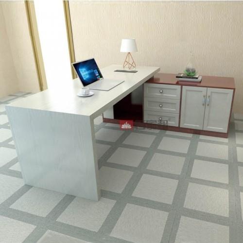 红柚3D英国白橡木结合全铝办公桌BJB-M08