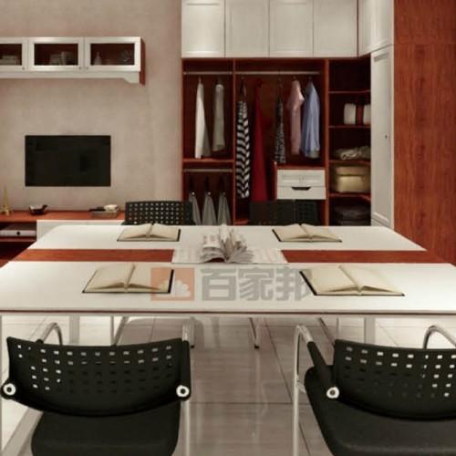 金橡木白橡木结合全铝办公家具BJB-M07
