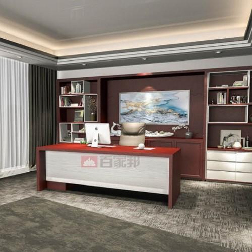 红柚3D英国白橡木全铝总裁桌BJB-M04